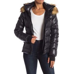 S13 Kelly Black Down Puffer Jacket Coat